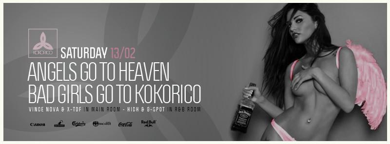 Flyer Angels go to heaven, bad girls go to Kokorico