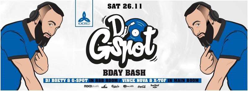 Flyer Dj G-spot Bday bash