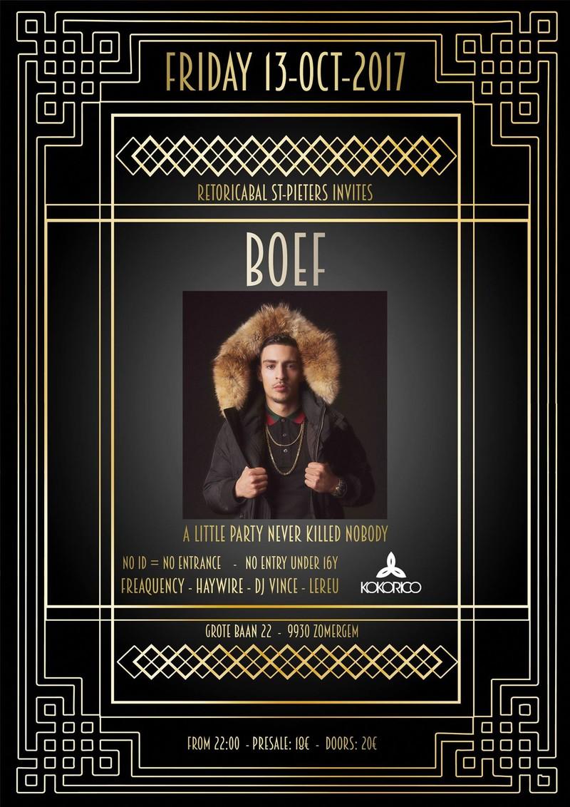 Flyer Retoricabal Sint - Pieters invites Boef
