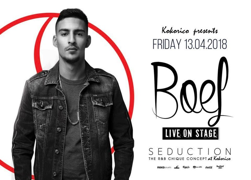 Flyer boef live on stage