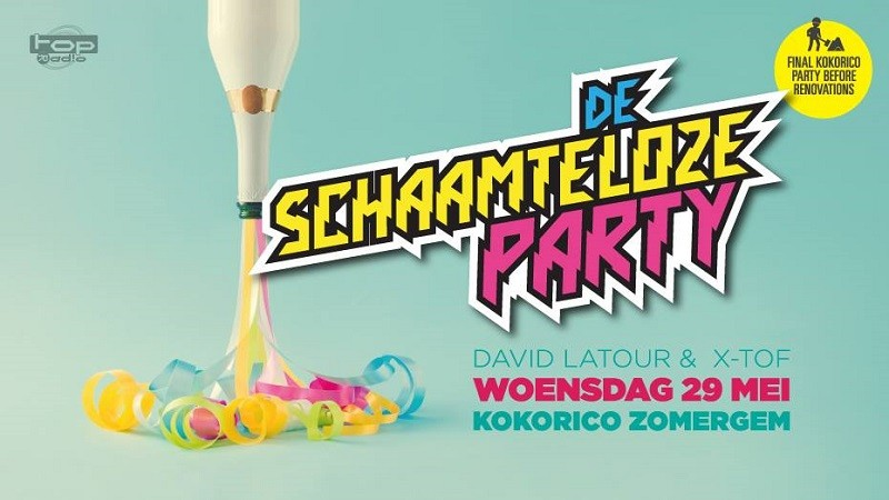 Flyer De schaamteloze party