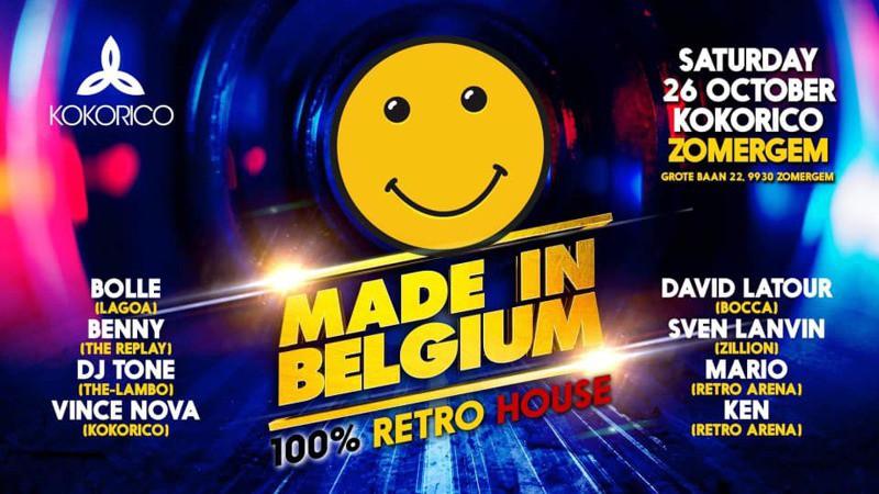 Flyer Made in Belgium 100% Retro