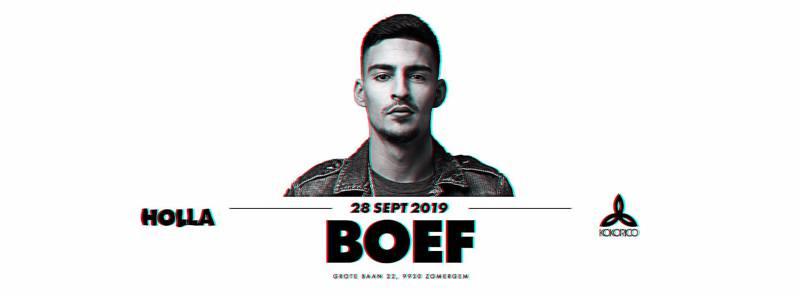 Flyer boef live on stage