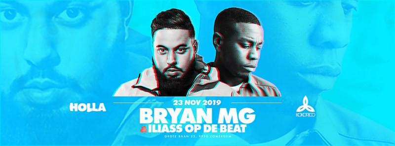 Flyer ILIASS OP DE BEAT & BRYAN MG Live on Stage