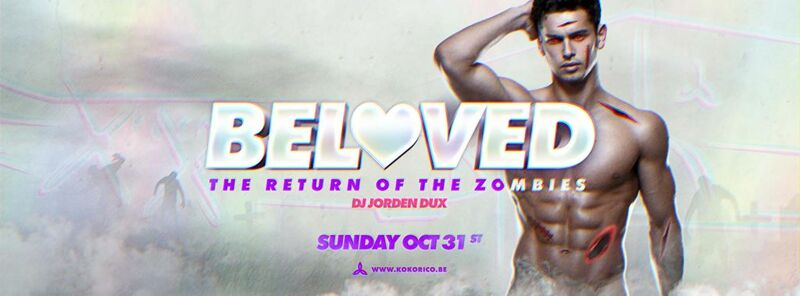 Flyer Beloved @ Kokorico - The Return Of The Zombies 31/10/2021