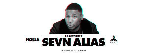 Flyer Sevn Alias Live on stage