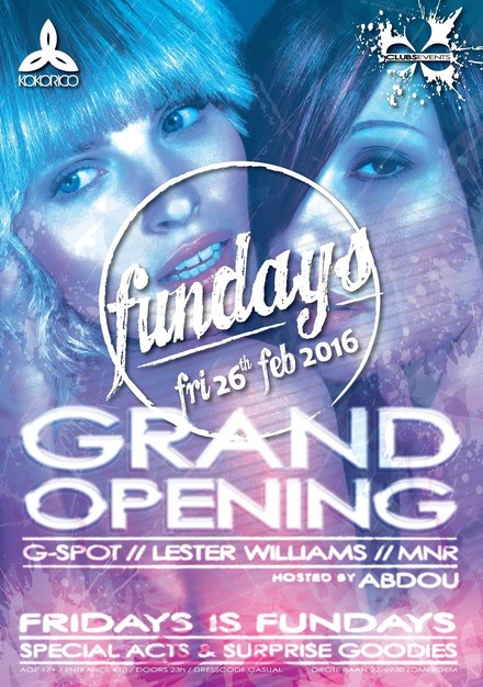 Flyer FUNDAYS - GRAND OPENING