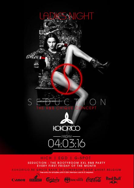 Flyer SEDUCTION - Rnb Fridays at Kokorico - Ladies Night