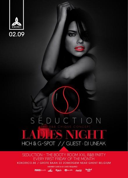 Flyer Seduction - RNB Fridays - ladies night