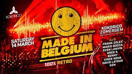 Flyer Made in Belgium 100% Retro at Kokorico